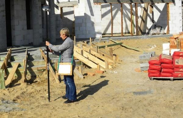 Geolog na placu budowy